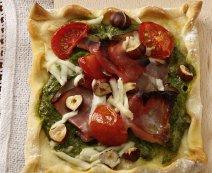 Sonkás, rukkolás pizza