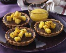 Csokoládétortácskák mangóval