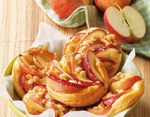 Almás tallér morzsával