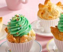 Színes cupcake rétestésztából