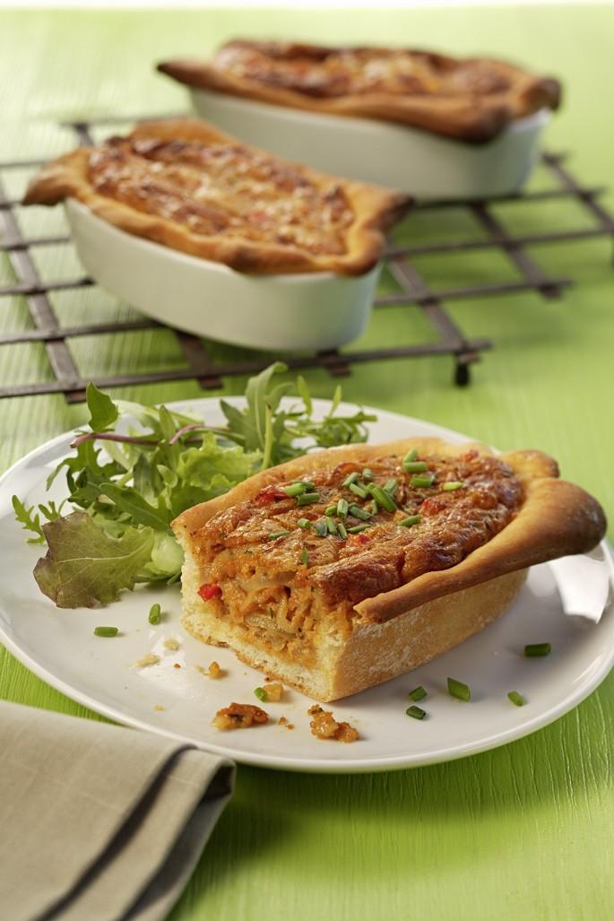 Voralbergi sajttorta friss pizzatésztából