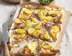Pizza burgonyával