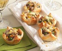 Pikáns leveles tészta muffinok