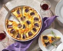 Pizzalepény burgonyával és fetával