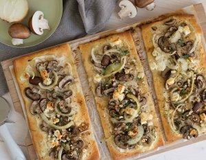 Pizza szeletek gombával