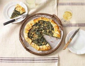 Spenótos francia pite