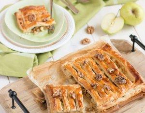 Almás-diós rácsos torta