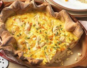 Csirkés tészta fűszeres zöldségekkel