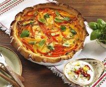 Quiche paprikával és camembert-el