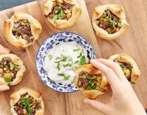 Leveles tészta muffinok gesztenyével