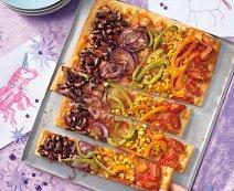Szivárvány-pizza