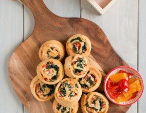Vegetáriánus pizzáscsigák