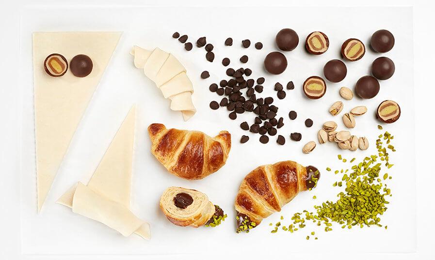 mozart-golyós croissant - hozzávalók