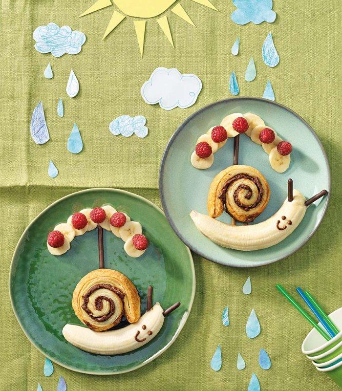 nugátkrémes csigák banánnal és csokis ropival