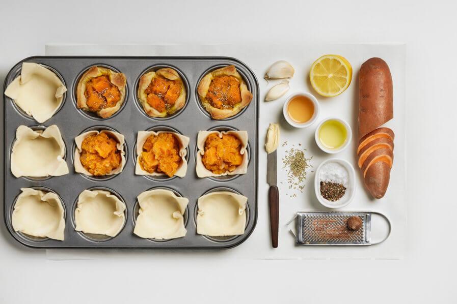 Édesburgonyás muffin rozmaringgal hozzávalók
