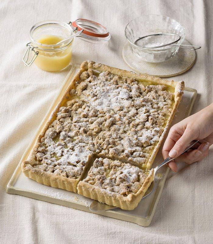 morzsás almás pite