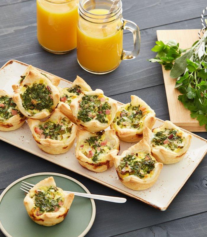 zöldfűszeres quichekosárkák